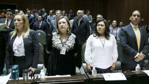 Xóchitl Gálvez en primera sesión de la Comisión Permanente