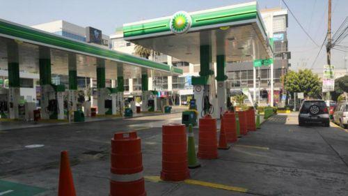 Estación de gasolina sin servicio