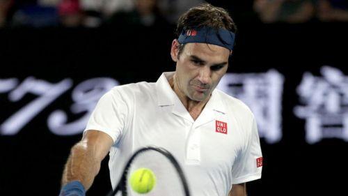 Federer en el duelo contra Taylor Fritz en el Australian Open