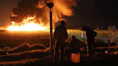 Explosión generada de un ducto en Tlahuelilpan, Hidalgo