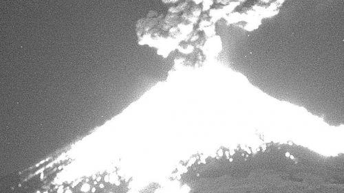 La explosión que registró el Popocatépetl