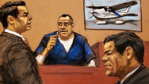 Representación gráfica del juicio del Chapo Guzmán