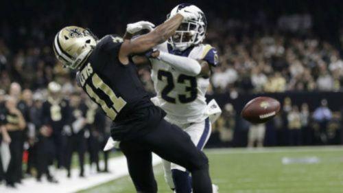 La interferencia de pase de los Rams a los Saints