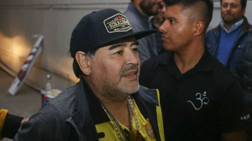 Diego Maradona, entrenador de Dorados de Sinaloa