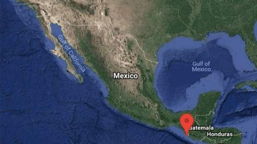 Registro del epicentro del sismo