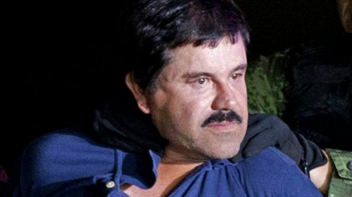 Chapo Guzmán durante su recaptura