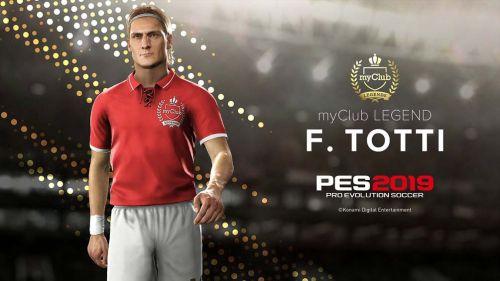 Francesco Totti ahora es una leyenda de Pro Evolution Soccer