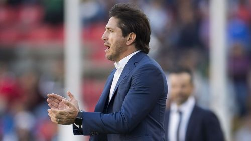 Bruno Marioni en el partido contra Gallos