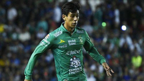 José Macías, durante un partido de León