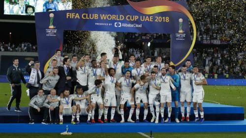 Real Madrid festeja tras ganar el Mundial de Clubes 2018