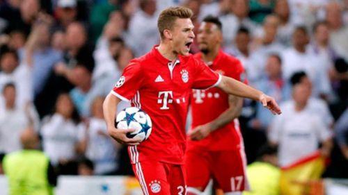 Kimmich durante un partido con el Bayern