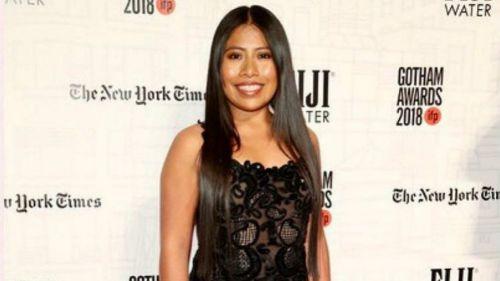 Yalitza Aparicio durante una premiación