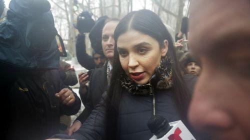 Emma Coronel durante el juicio del Chapo Guzmán
