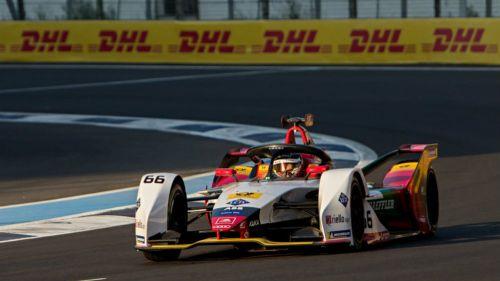 Daniel Abt, durante las prácticas de la Formula E