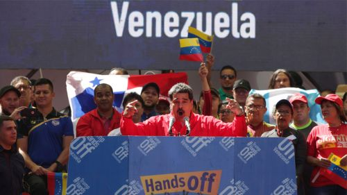 Nicolás Maduro, durante una conferencia de prensa