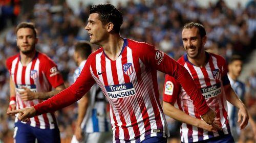 Morata mantiene al Atlético en carrera