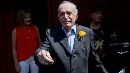 Gabriel García Márquez en su casa en México