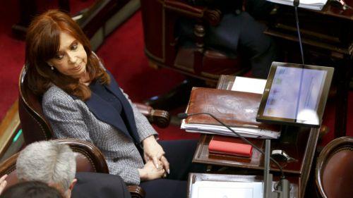 Cristina Fernández,durante un acto parlamentario
