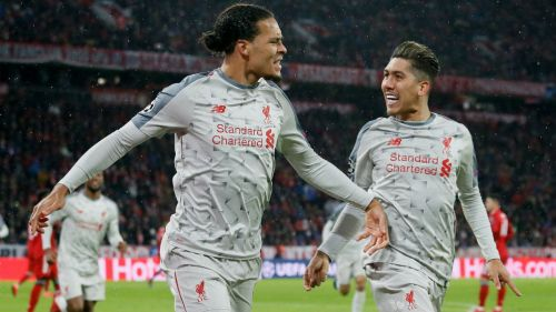 Liverpool celebra una anotación frente al Bayern Munich