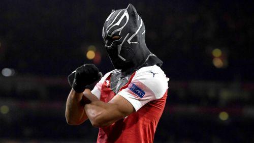 Aubameyang celebra anotación contra Rennes