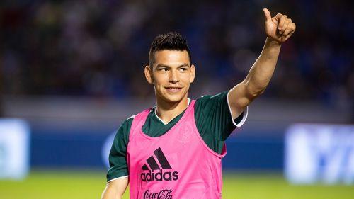 El Chucky Lozano previo a un partido con México
