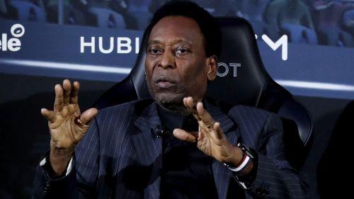 Pelé, durante su encuentro con Mbappé en Francia