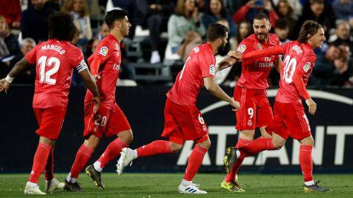 Real Madrid celebra una anotación frente al Leganés