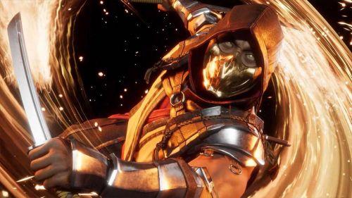 Scorpion, tras una victoria en Mortal Kombat 11