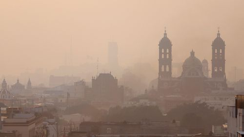 Vista de la CDMX en plena contaminación