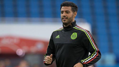 Carlos Vela, en entrenamiento de la Selección Mexicana