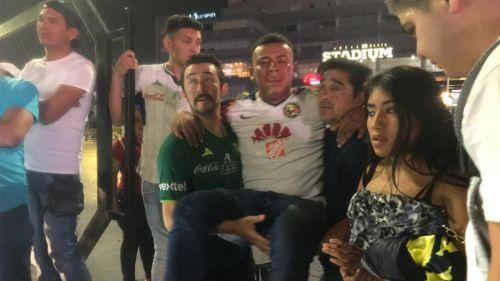 Víctimas fueron auxiliadas por aficionados del León