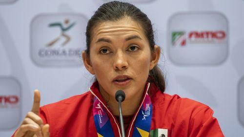 María del Rosario Espinoza, en conferencia de prensa