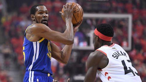 Kevin Durant en el partido contra los Raptors