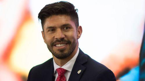 Oribe Peralta en su presentación con Chivas