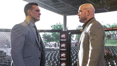 Alberto El Patrón y Tito Ortiz cara a cara