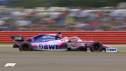 Monoplaza de Checo Pérez en el GP de Gran Bretaña