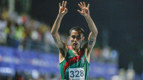 Juan Luis Barrios, durante una competencia en Barranquilla 2018