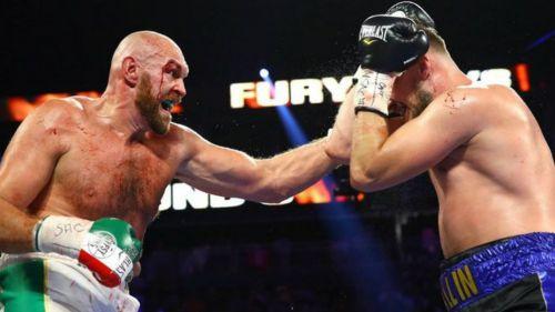 Tyson Fury y Otto Wallin durante el combate