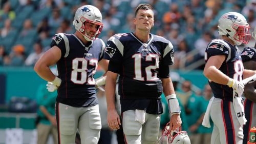 Tom Brady en un partido de los Patriots