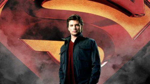 Tom Welling en un promocional de 'Smallville'