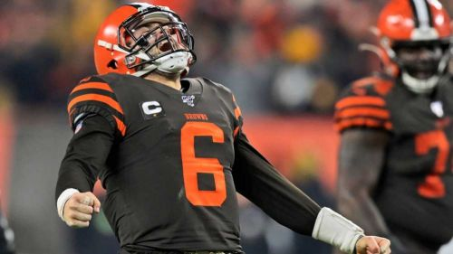 Baker Mayfield, en el partido ante Steelers