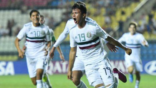 Ali Ávila en festejo, durante juego de CF del Mundial Sub17