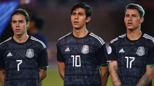 Córdova, Macías y Calderón con la Selección Mexicana