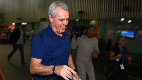 Javier Aguirre, en el aeropuerto