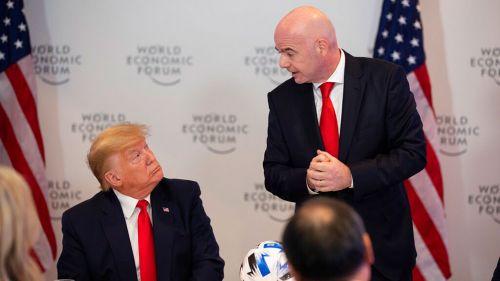 Infantino dio discurso frente a Donald Trump