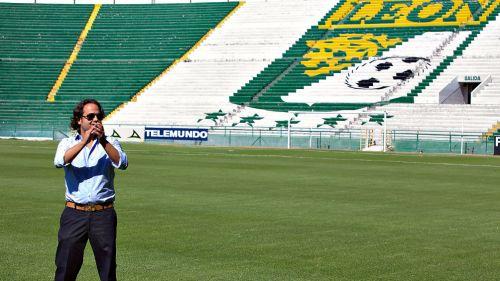 Jesús Martínez Murguía en el estadio Nou Camp