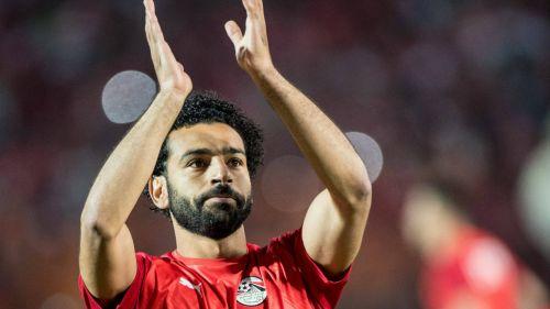 Mohamed Salah durante un partido con Egipto