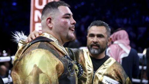 Andy Ruiz después de la pelea con Anthony Joshua