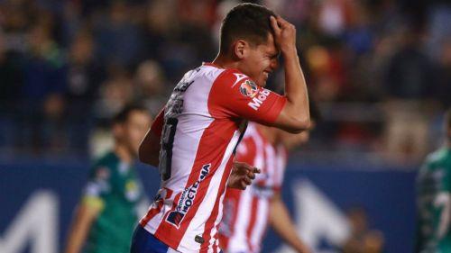 Diego Hernández, de Atlético San Luis, en lamento