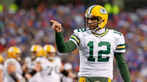 Rodgers en un partido con Green Bay
